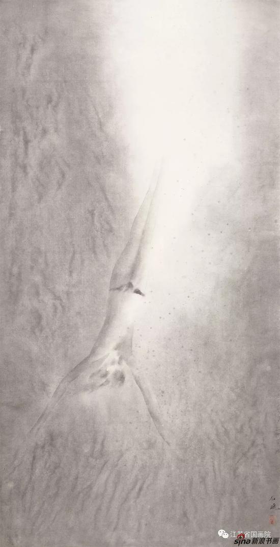 石晓 《泳系列之四》 143cm×71cm