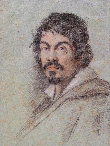 奥塔维奥·勒奥尼(Ottavio Leoni)创作 卡拉瓦乔肖像 创作于1621年左右 ©Biblioteca Marucelliana