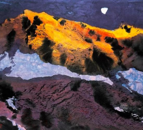 昆仑子|山带残雪明 98cm×98cm