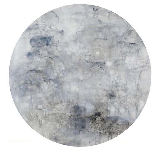 73《荷和……之五》张晋 200cm×200cm 布面油画 2009年