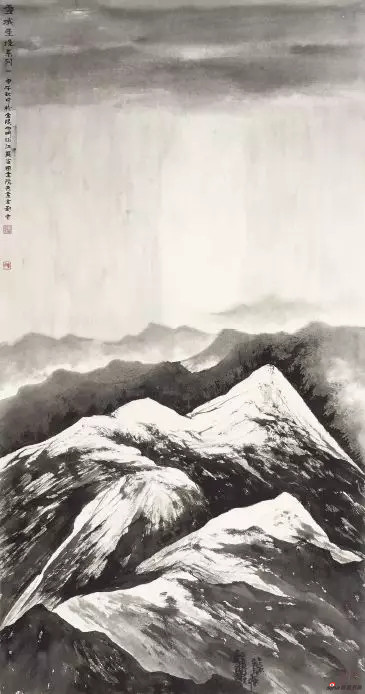 《雪域圣境系列》 143cm×76cm 刘 云 江苏省中国画学会副会长