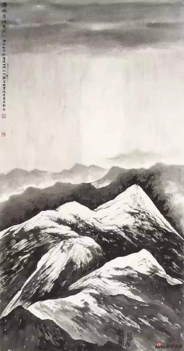 《雪域圣境系列》 143cm×76cm   刘 云
