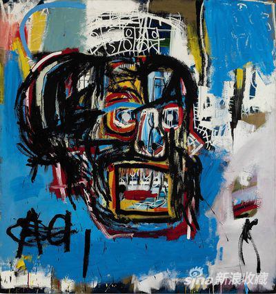 让-米谢·巴斯奎亚的油画《无题》