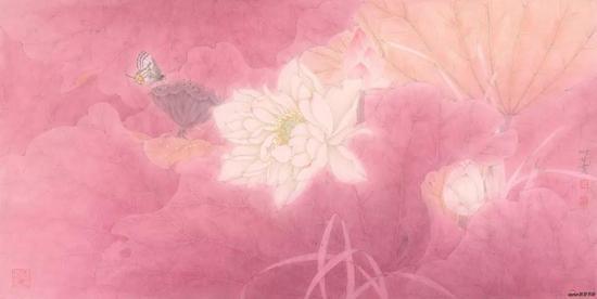 甘永川 红芳馨香十二 33×65cm