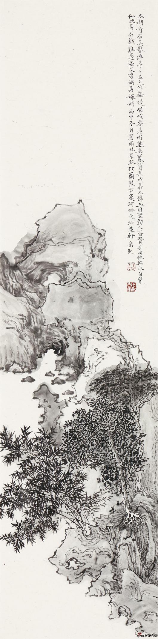太湖奇石 136cm×34cm 2016