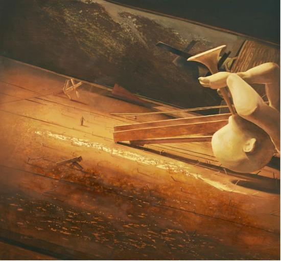 《童梦》 油画 120cm×130cm 2016年