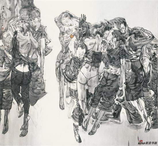 《清月》214cmX202cm-2012 张江舟