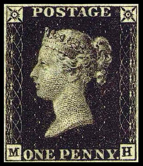 今天是邮票诞生日1840年5月6日英国发行黑便士