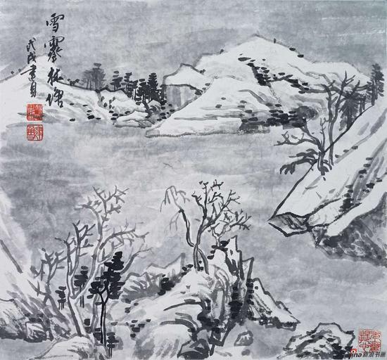杨建勇《雪霁林塘》 46X49cm 2018