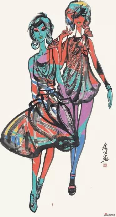 《夏日凉风》 177cm×95cm 张广才 江苏省中国画学会副会长