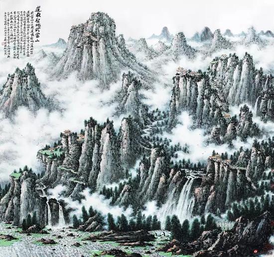 黄廷海道教圣地武当山 190x190cm