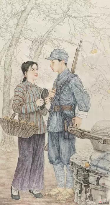 《九九艳阳天》 183cm×98cm 王 平 江苏省中国画学会常务理事