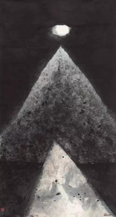 《明月山海间》 180cm×47cm 周海歌 江苏省中国画学会副会长