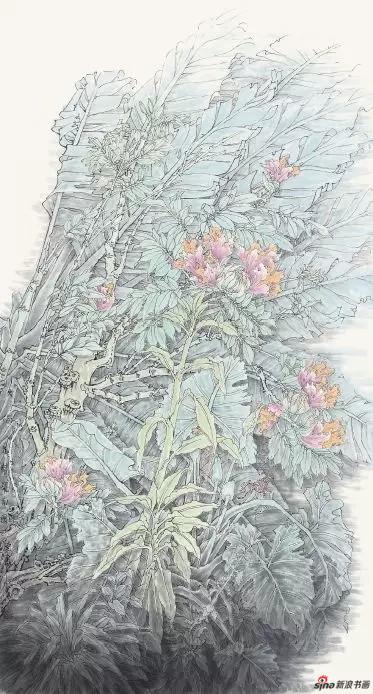 《火焰花开耀南国》 180cm×96cm   孟怀良