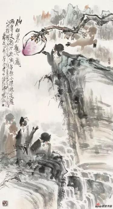 《仙山果熟图》180cm×97cm   徐培晨