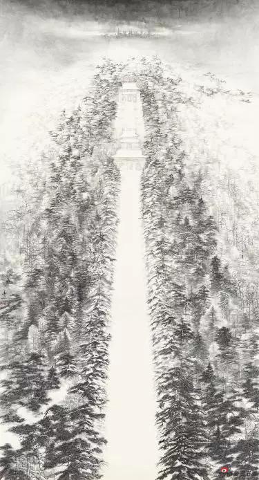 《钟山雪祭》 269cm×144cm   刘 春