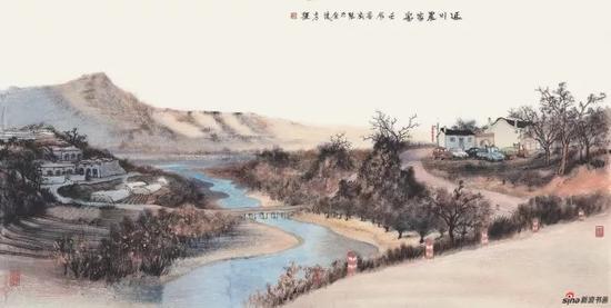 《延川农家乐》 68cm×137cm   方 骏