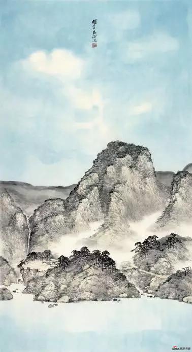 《晴空》 180cm×97cm 毕宝祥 江苏省中国画学会副会长