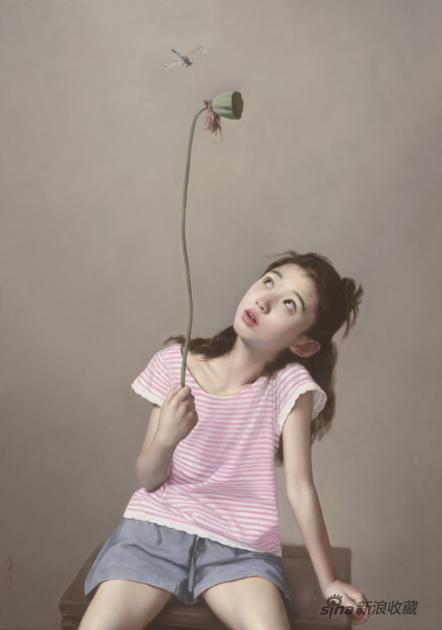 李贵君 蜻蜓 布面油画 132x113cm 2016年