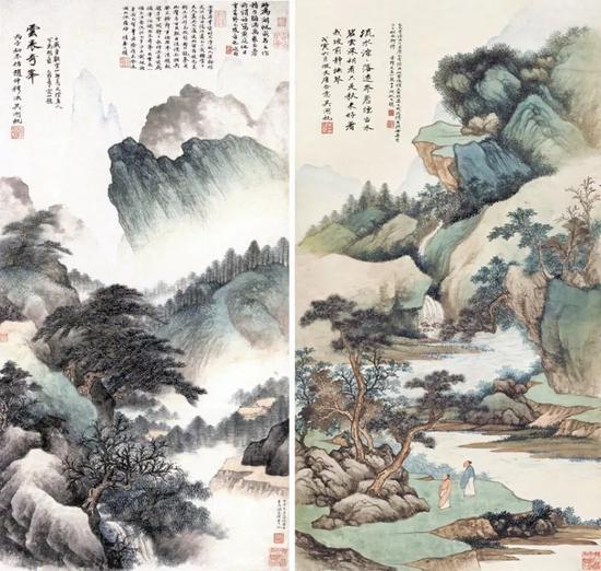 云表奇峰(左)与拍品