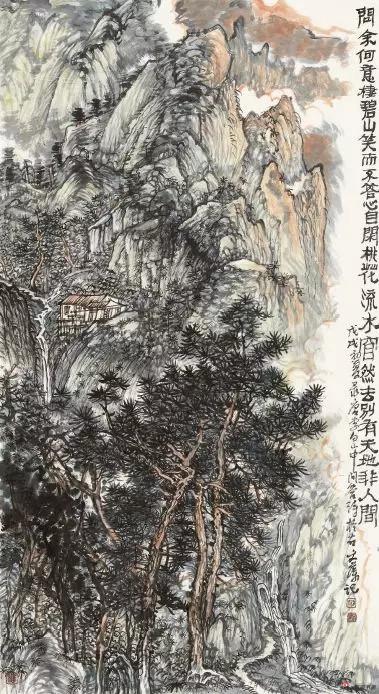 《桃源秋色》 180cm×97cm 徐文藻 江苏省中国画学会常务理事