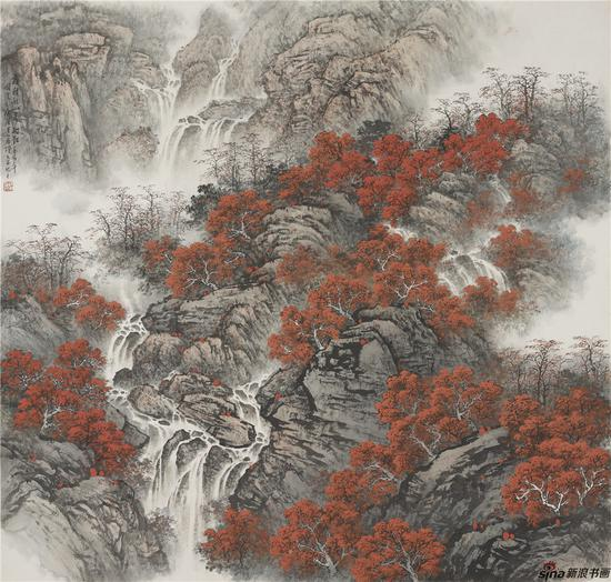 霜积秋山万树红 124×124
