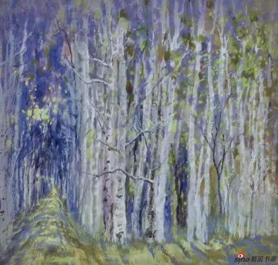 彩墨《林间》