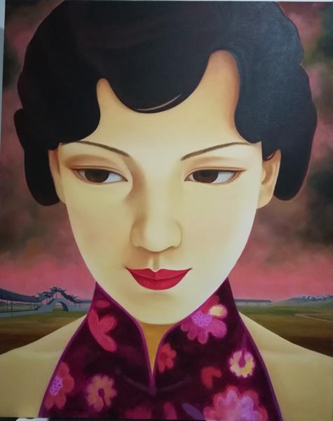 中国媚娘200x150cm布面油画2018
