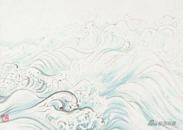 海水之六25x35cm 钤印:雄才(白文)22260157