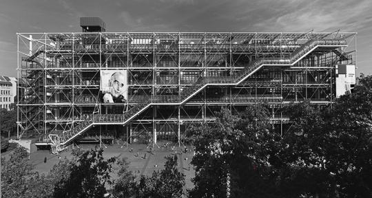 法国蓬皮杜国家艺术中心资料图片。