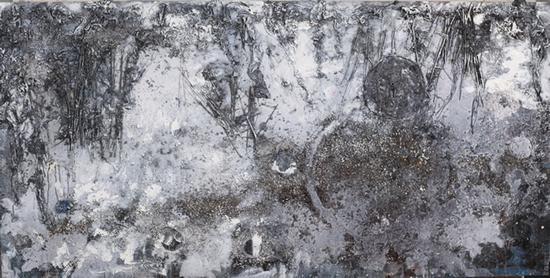 莽林·月夜·星空 120x240cm2017