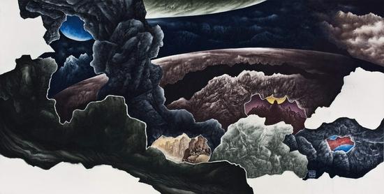 姬子,天地无垠,124x248cm,2009