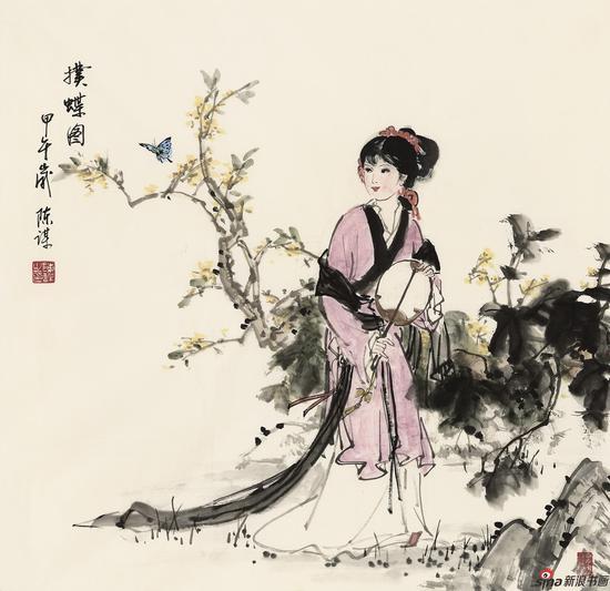 陈谋-蝶恋花-70cm-70cm