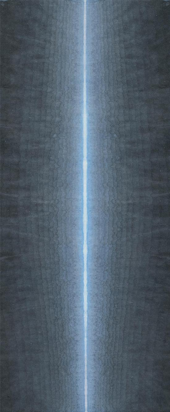 有顷之三-68×28cm-宣纸水墨,矿物质色,水彩