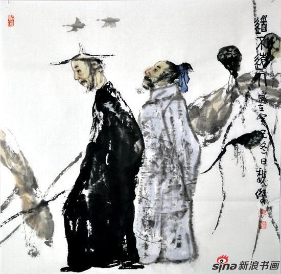 魏杰作品《道不远人》68X68cm 2014