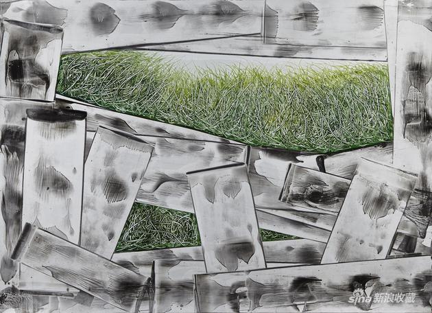 徐巍《滋长21》108x79cm独幅版画2015年