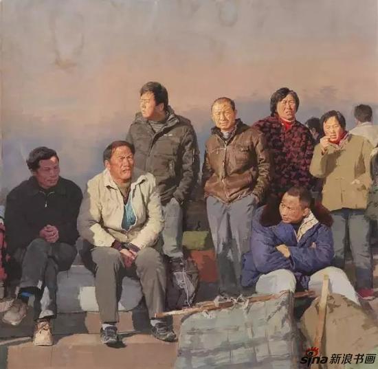 《乡愁》纸面水粉150cm×150cm/2009年