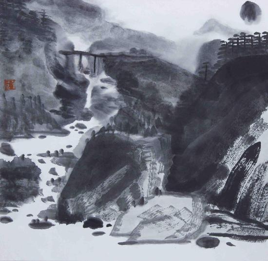郑文《溪流》2018年