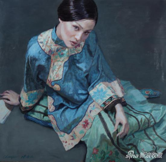 陈逸飞《小瞿》布面油画 150×155cm 1995年