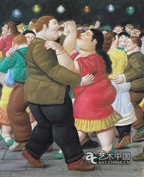 跳舞的人们(2002),纸本色粉笔画