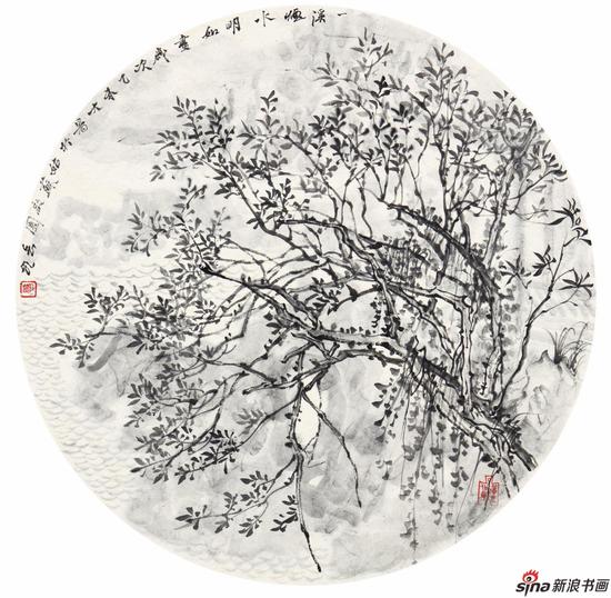 三春陌上沾时雨 50cm×50cm 2015