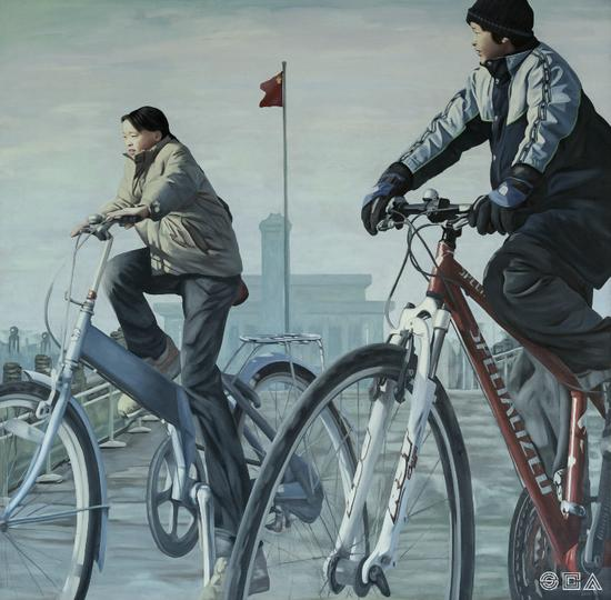 《行者系列 No.39》 油画 布面、油彩 200×200cm 2011