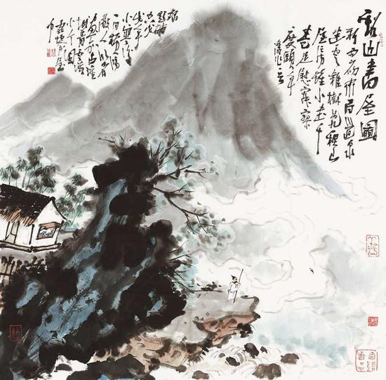 林峰《水墨山水之二》70cm×70cm