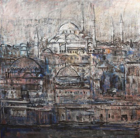 85《伊斯坦布尔》石煜 200cm×200cm 布面油画 2017年