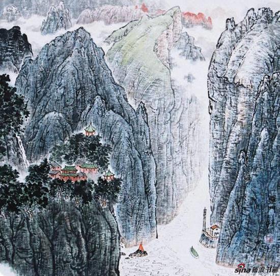 黄名芊《夔门》68x68cm