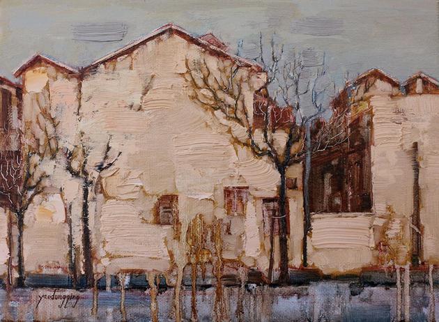 冬季 29.5x41cm 布面油画