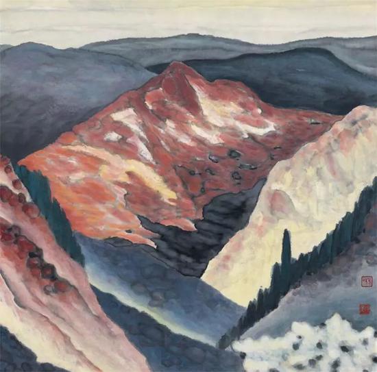 太行山 2001 宣纸 墨 国画色 巴黎市当代艺术库收藏