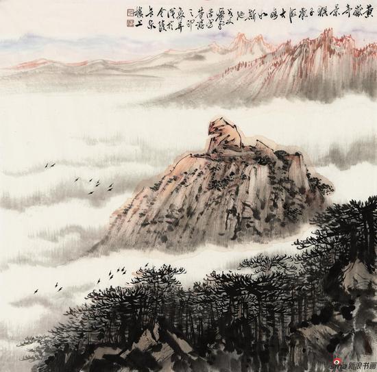 萧平-黄狱奇景-71x70cm-27000元