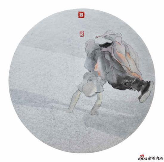 李亚光《暖月》33X33cm 中国画 银卡设色 2017