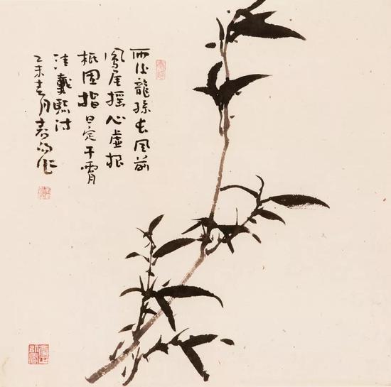 霍春阳 《竹子》 68x60cm